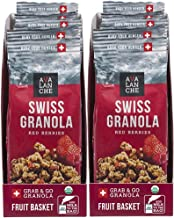 Avalanche Organic Red Berries Swiss Granola, 1.76 Ounce Bag (Pack of 12) Organic, Non-GMO, All Natural, Kosher, Portable Packet of Granola, Convenient Size Snack On The Go, Can Pour in Milk or Yogurt