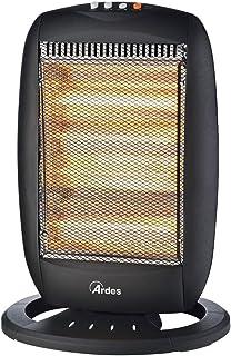 Ardes AR455B - Calefactor (Calentador halógeno, Halógeno de gas, Interior, Negro, 1600 W, 400 W)
