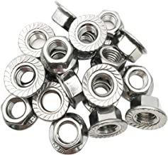 ZXHAO M10 Thread Sawtooth Hexagon Flange Nuts 304 Stainless Steel Nuts 20 Pcs