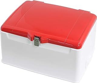 旭風防(AF ASAHI) リアボックス 集配用キャリー ふた塗装付き 110-148L 大容量収納 ふたグローイングレッド近似色/本体白 AB-5RD