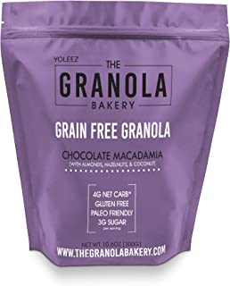Granola Bakery - Dark Chocolate Coconut Grain Free Granola, 4g Net Carb, 10.6Oz Bag - Paleo Keto Cereal, Healthy Low Carb Fat Bomb, Gluten Free, Organic Ingredients
