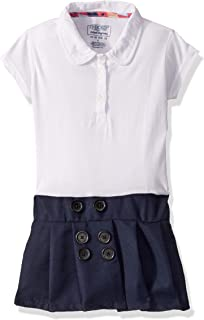 Girls' Polo Dress with Pleated Skirt