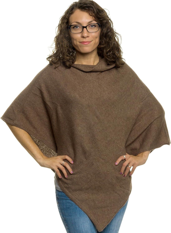 Womens Cashmere Poncho  SilverHooks Plush Cashmere Wrap Sweater (Taupe)
