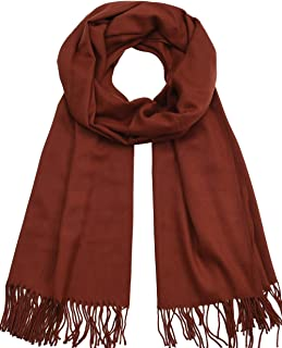 Womens Scarfs Large Soft Cashmere Feel Pashmina Scarves Shawls and Wraps for Evening Dress in Solid Colors