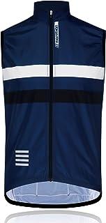 Morethan ウインドブレーカー サイクルベスト 袖なし ノースリーブ 防風 バックポケット付き メンズ WVP-020