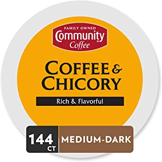 Community Coffee & Chicory Single Serve Pods, Compatible with Keurig 2.0 K Cup Brewers, 36 Count (Pack of 4)