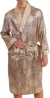 Mens Silk Satin Robe Lightweight Spa Bathrobe with Shorts Nightgown Long Sleeve House Kimono Luxurious Bathrobe Set
