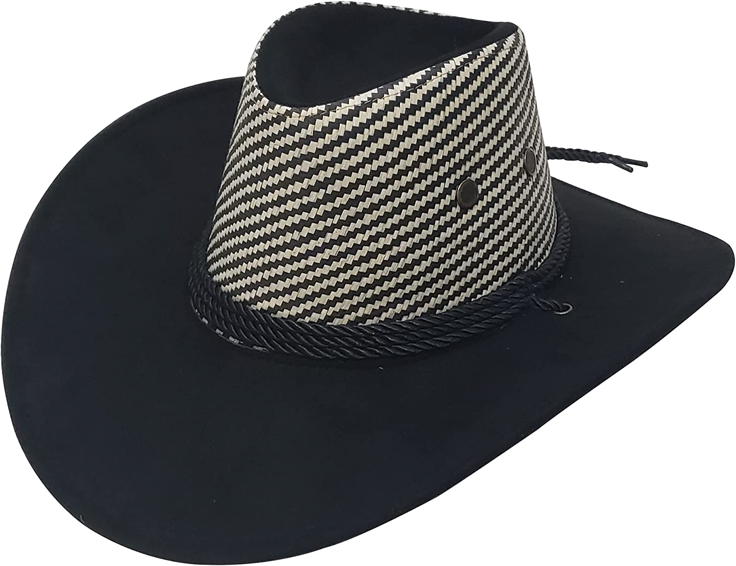 Genérico Cowboy Hat for Men and Women Cowgirl Western Outback Style Faux Felt - One Size