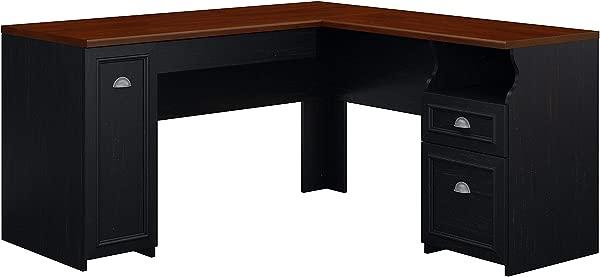 Bush Furniture Fairview L Shaped Desk In Antique Black