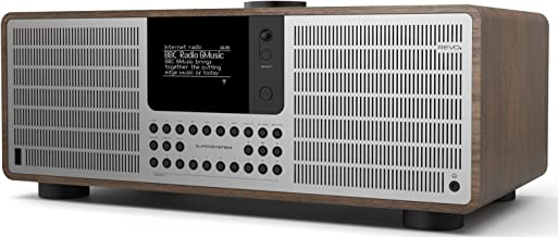 REVO SuperSystem Multi-Format Premium Audio System - Walnut / Silver