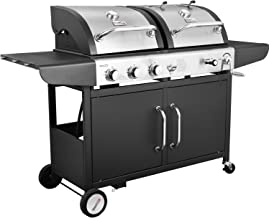 Royal Gourmet 3-Burner Cabinet Gas Grill and Charcoal Grill Combo, Black