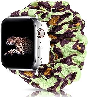 شريط ساعة مطاطي من Scrunchie ، 38 مم 40 مم / 42 مم 44 مم حزام ساعة مريح ومرن مناسب لساعة IWatch/Apple Watch 5 4 3 2 1