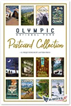 Lantern Press Olympic National Park - Postcard Set of 12 Different Original Hand Illustrated Postcards …