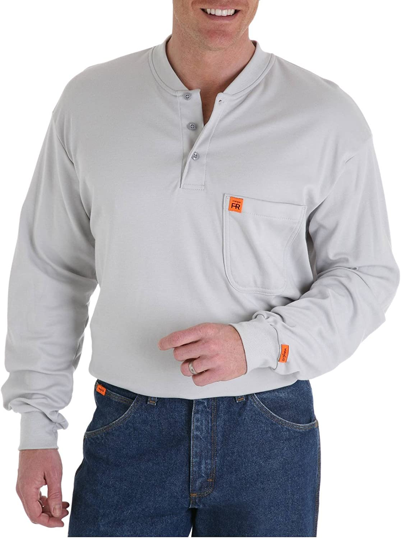 Wrangler Big & Tall Flame-Resistant Long Sleeve Henley