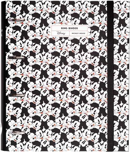 Erik - Classeur A4 4 Anneaux - Disney Mickey Mouse | Classeur Rigide | Fournitures Scolaires, Fournitures de Bureau