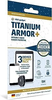 SlickGadget Nano Liquid Screen Protector Titanium Armor + (Covers up to 3 Devices)   Fits all Smartphones Tablets Smartwat...