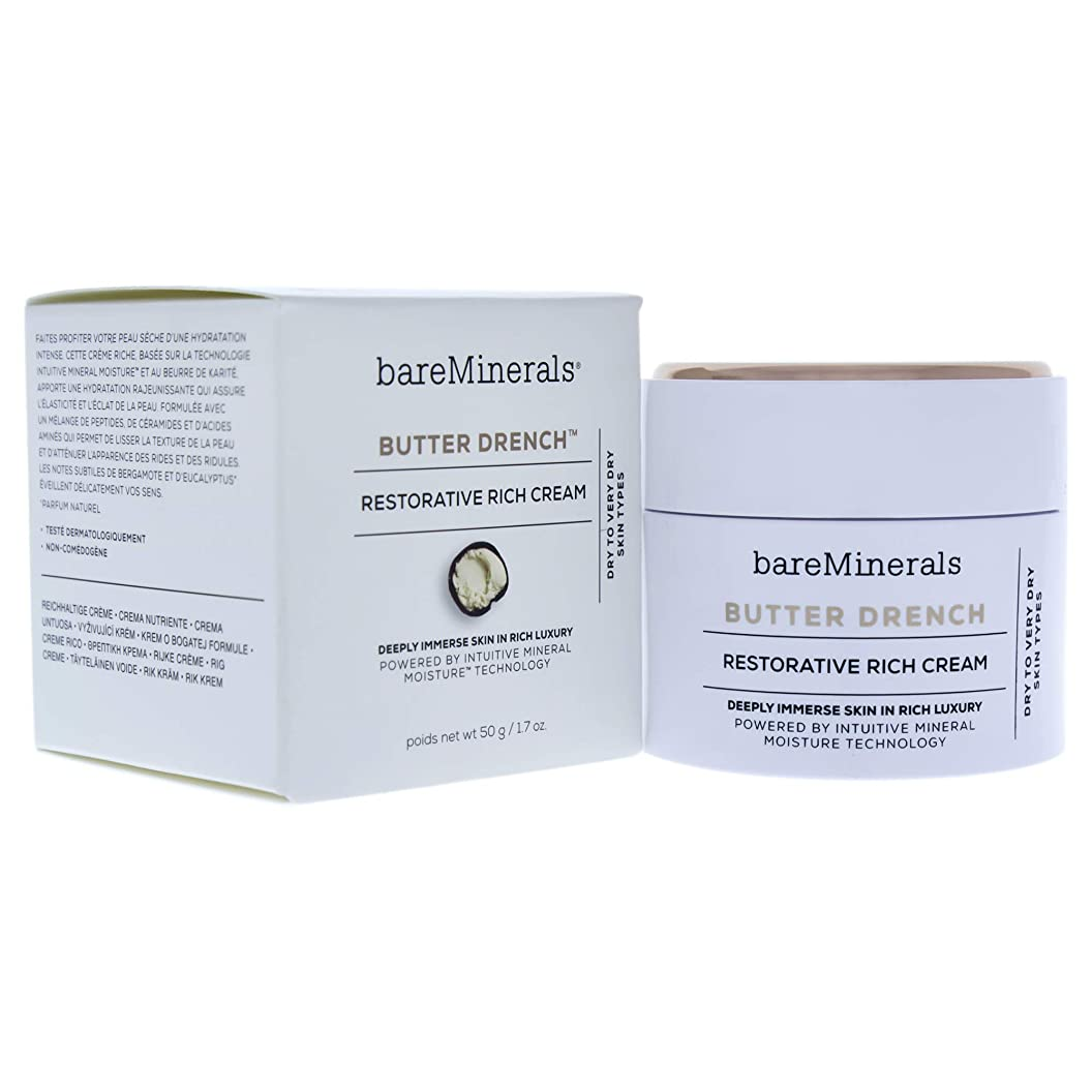 カウントアップ勝つ病者ベアミネラル Butter Drench Restorative Rich Cream - Dry To Very Dry Skin Types 50g/1.7oz並行輸入品