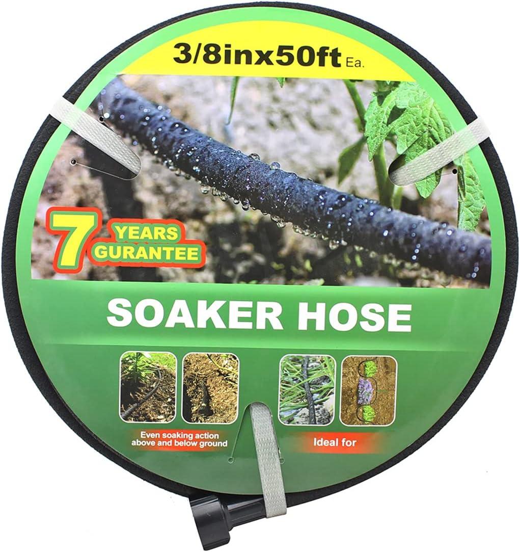 Garden Soaker Hose -Garden 50 ft 3 Diameter with SALENEW Attention brand very popular 8'' Interf