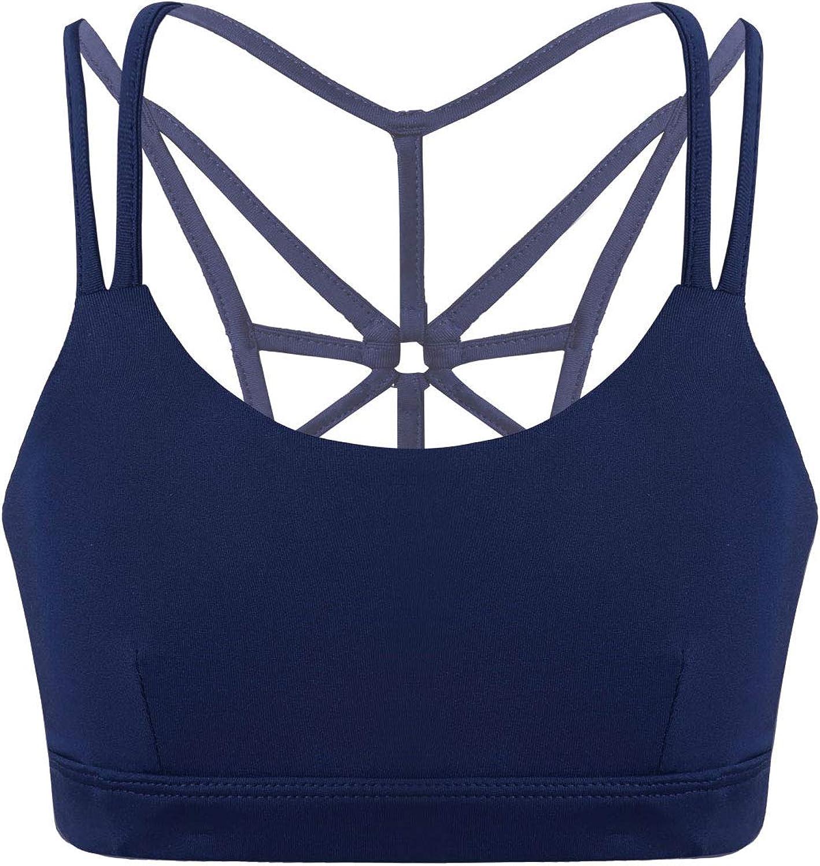 inhzoy Girls Kids Sports Tops Slim Firt Crops Tanks Training Underwear Gymnastics Dancing Workout Activewer