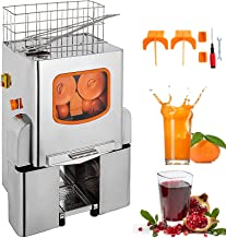 VEVOR 110V Electric Orange Juicer Commercial Squeezer Machine Lemon Automatic Auto Feed Perfect for Drink Bar and Home Supermarkets, 22-30 Per Minute, 304 Tank+Stainless Steel Cover