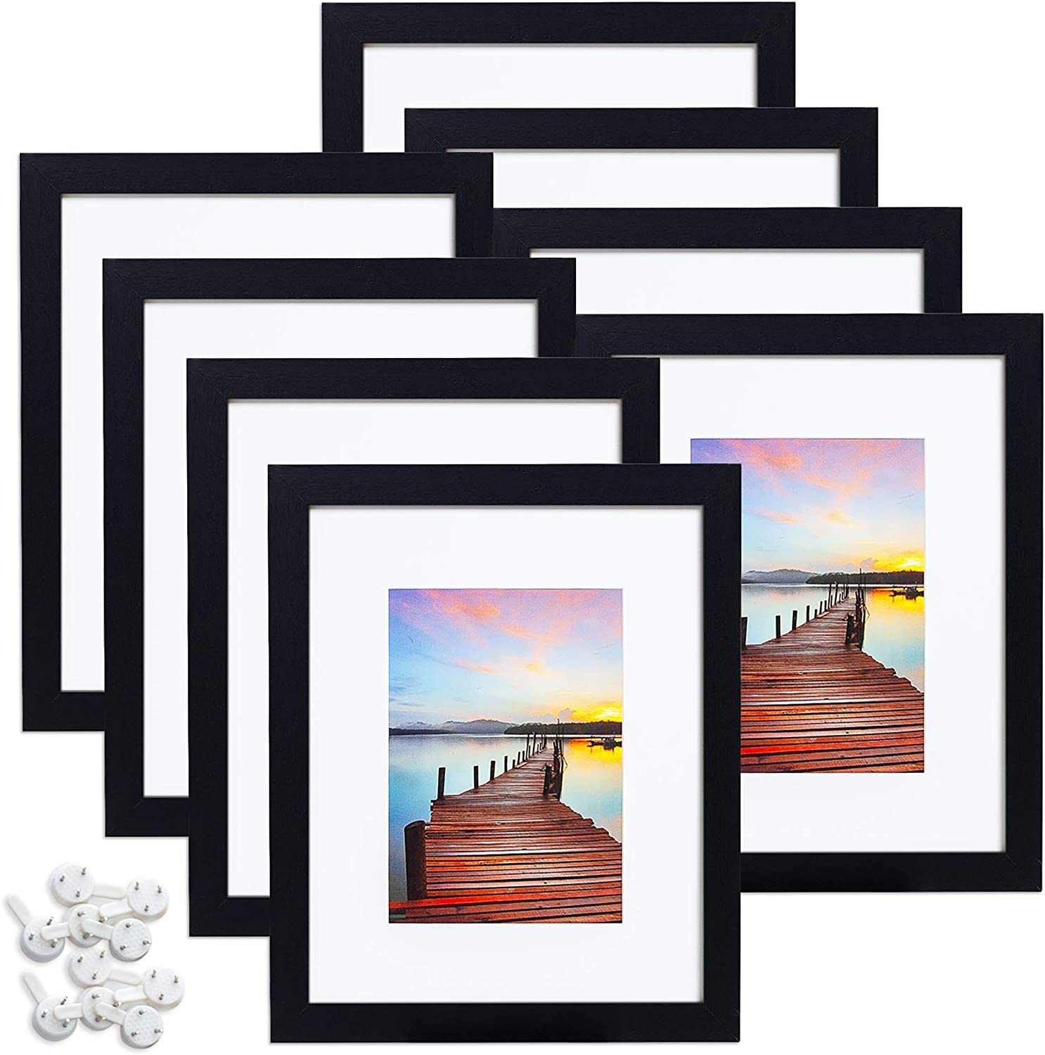 Sindcom 8x10 Picture Frame Black Free Shipping Cheap Bargain Gift Wood SEAL limited product Frames Photo Col Textured