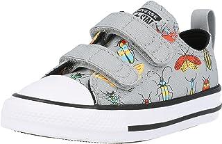 Converse Chuck Taylor All Star 2V Ox Gamer Noir/Noir (Storm Wind/Black) Toile Bambin Formateurs Chaussures