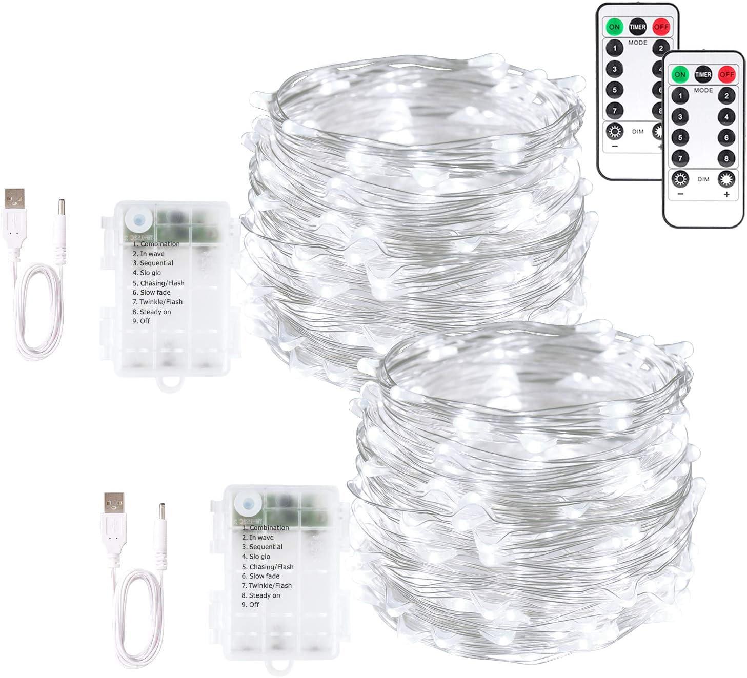 Blingstar Fairy Lights 2 Austin Mall Pack String USB 100 and Ranking TOP9 33ft LED