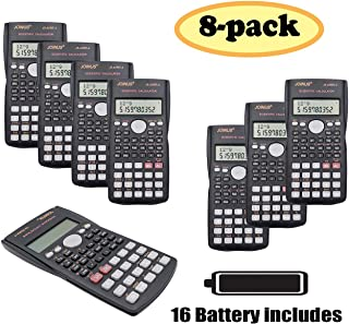 SUNYANG 8 Packs, 2-Line Engineering Scientific Calculator Function Calculator for Student and Teacher