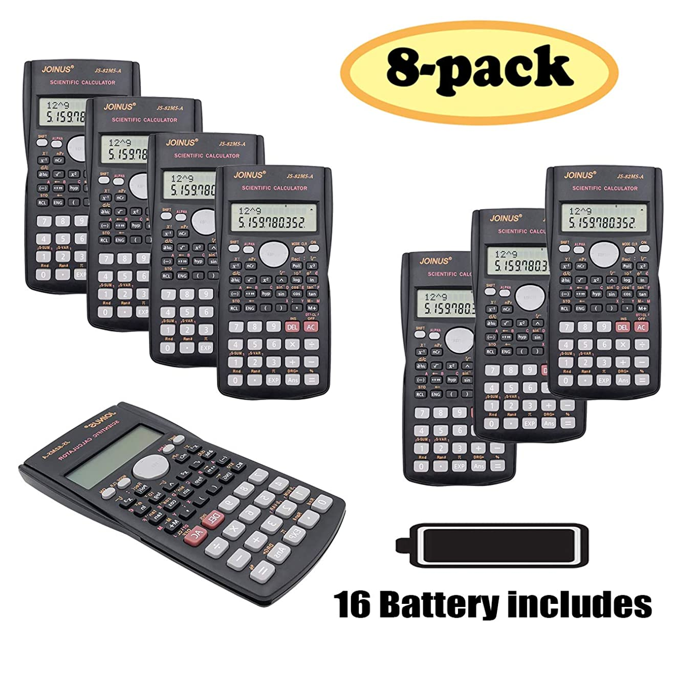 対話お酢延期するSunyang複線エンジニアリングScientific Calculator関数電卓の学生と先生 8PCS