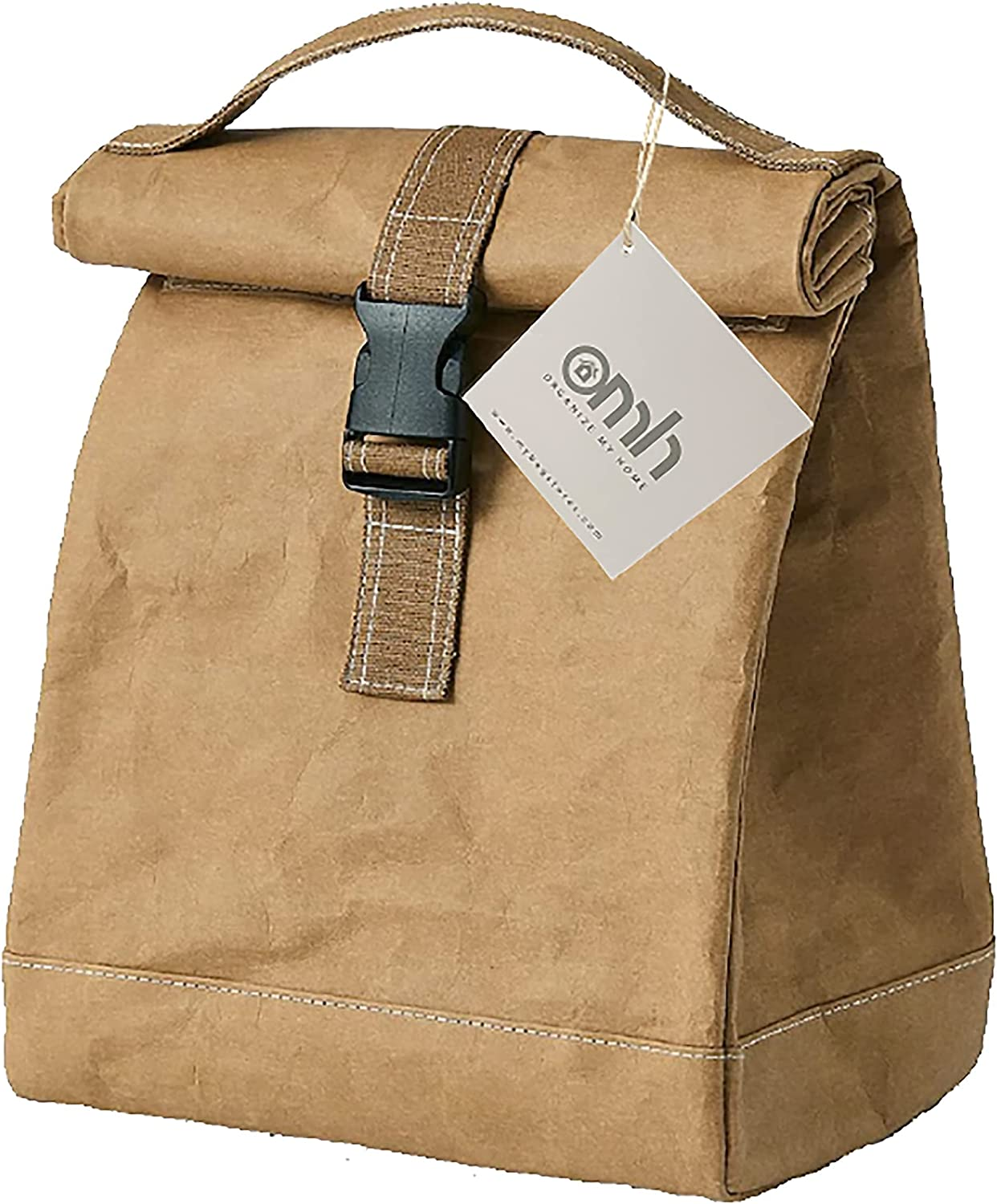 Roll Down Lunch Tote Bag (Brown)