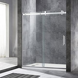 bathroom frameless glass shower doors