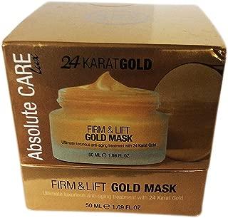 Absolute Care 24 Karat Gold Mask, Firm & Lift, Anti Aging treatment. 1.69 FL OZ