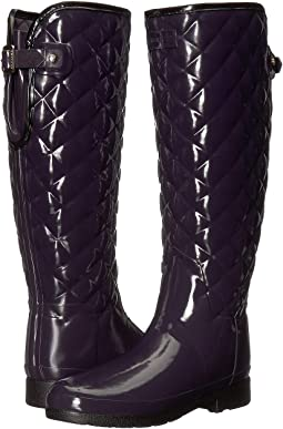 Refined Gloss Quilt Tall Rain Boots