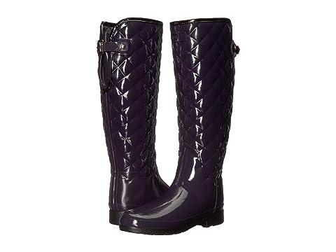 e4c2ce0f6e74 Hunter Refined Gloss Quilt Tall Rain Boots at 6pm