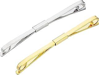 Tie Collar Bar Pin Set for Men Classic Collar Clip Set of 2