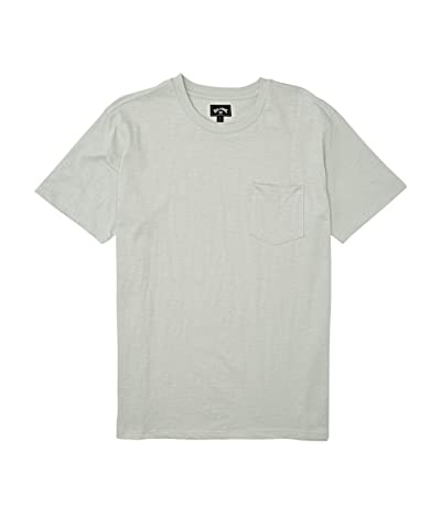 Billabong Mesa Slub Premium Crew T-Shirt (Grey Mist) Men