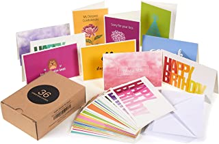 All Occasion Greeting Cards Box Set – 36-Pack Assorted Greeting Cards, 36 Unique Designs, Includes Happy Birthday, Sympathy, Thank You Cards, Envelopes Included, 4 x 6 Inches