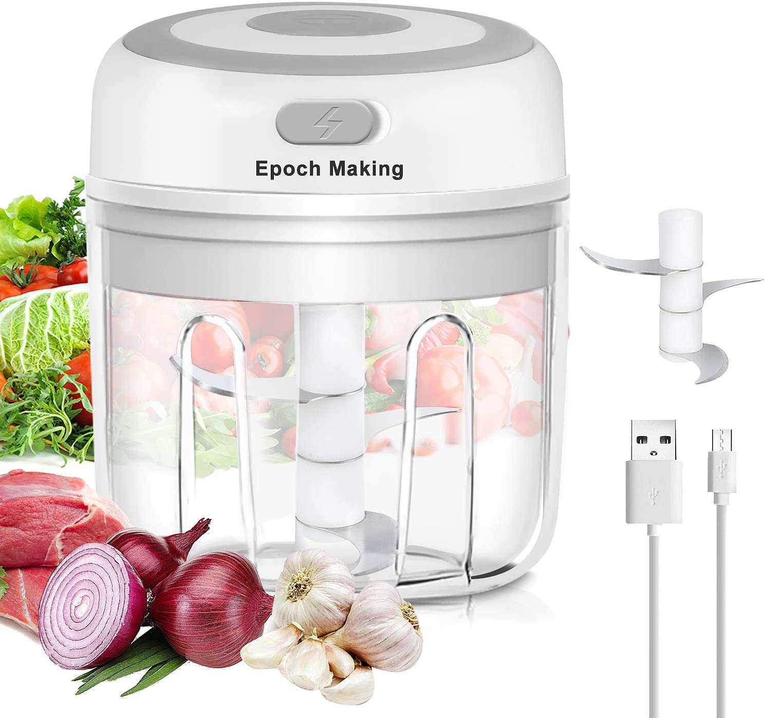 Electric Mini Garlic Chopper sale New mail order with 250ML Masher Portable