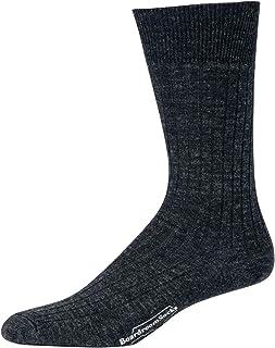 Boardroom Socks Merino Wool Mid-Calf Dress Socks for Men, Ribbed Dress Socks, Charcoal