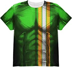 St Patrick's Day Irish Champion Superhero Costume All Over Youth T Shirt