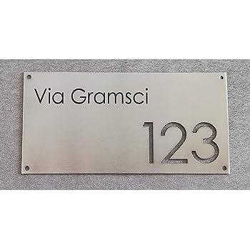 Mosaici Guizzo Numero civico in Acciaio con Fori/_Due cifre Traforate/_12x12 cm