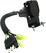 ANTO 4 Flat to 7 Way RV Trailer Light Custom Plug Wire Harness Electrical Converter Adapter