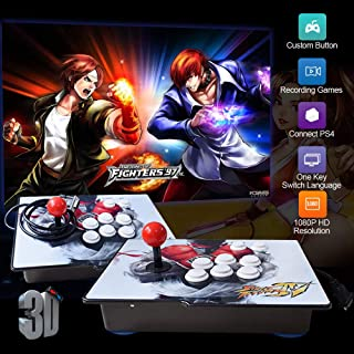 XFUNY Arcade Game Console 1080P 3D & 2D Games 2020 in 1 King of Fighters Pandora's Box 3D 2 Players Arcade Machine with Arcade Joystick Support Expand 6000+ Games for PC / Laptop / TV / PS4 (SF)