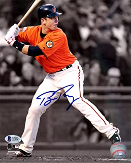 BUSTER POSEY AUTOGRAPHED 8X10 PHOTO SAN FRANCISCO GIANTS BECKETT BAS STOCK #125164