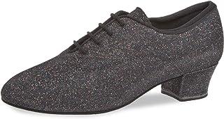 Diamant Femmes Chaussures de Danse/Chaussures d'Entraînement 140-034-511-A - Brocart Noir/Multicouleur - 3,7 cm Cuban - Ma...