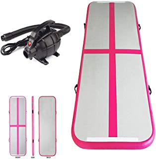 Inflatable Air Track Mat Tumbling Floor Home Gymnastics Mat + Electric Pump Different Sizes + Colour Options