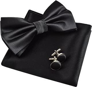 Mens Tuxedo Bow Tie, Hanky and Cufflinks Set