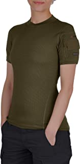 Womens Military Moisture Wicking T-Shirt - Tactical Training Army - Polartec Delta - Odor Resist - Frogman Line