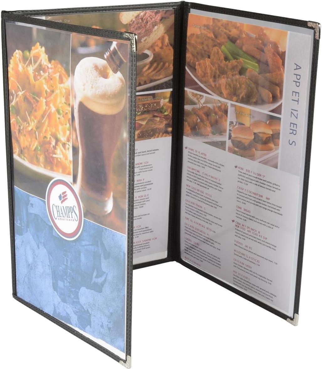 Displays2go TPCMUFDR14 Tri-Fold Menu Covers Set lowest price of 10 Oakland Mall 1 8.5 x