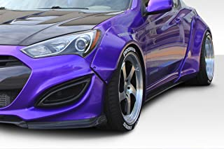 Vaero Duraflex Replacement for 2010-2016 Hyundai Genesis Coupe 2DR Circuit 75 MM Front Fender Flares - 2-Piece